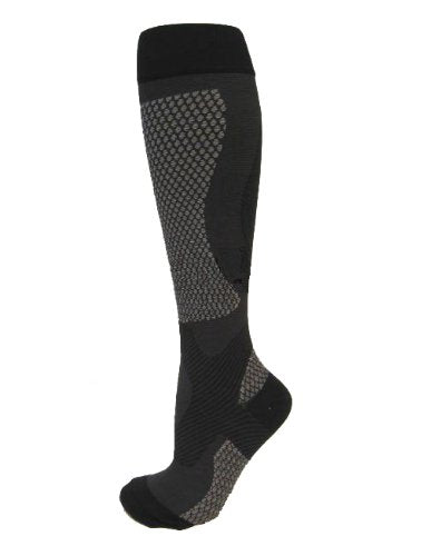 BriteLeafs Sports Compression Socks (Small, Black) - 20-30 mmHg Firm Support, Graduated Supports Best for Performance & Recovery