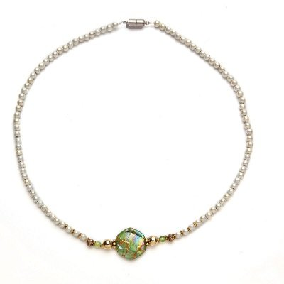 Peridot Magnetic Therapy Necklace 18