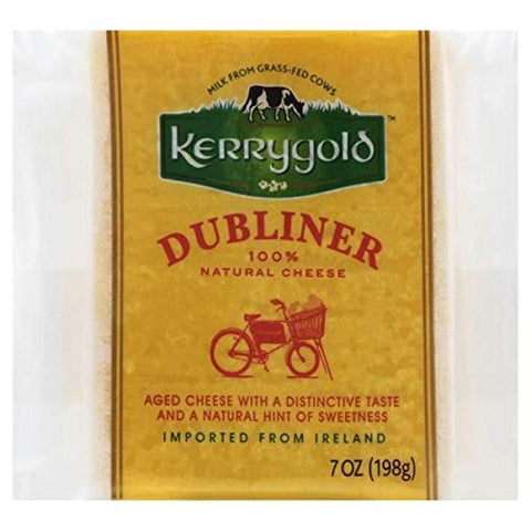 KERRYGOLD DUBLINER CHEESE IMPORTED CHUNK 7 OZ PACK OF 2