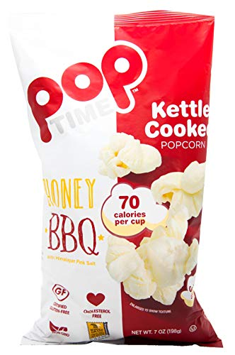 Poptime Kettle Cooked Popcorn,   Honey Bbq   7 Oz (Pack Of 12)