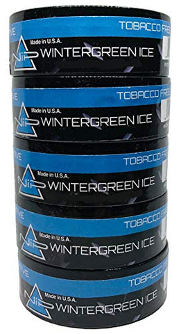 Nip Energy Dip Wintergreen Ice 5 Cans with DC Crafts Nation Skin Can Cover - US Flag