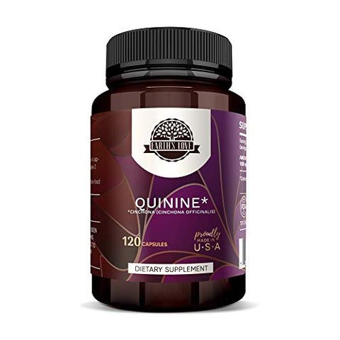 Earth's Love - Quinine 120 Capsules, 500 mg, Wildcrafted Quinine (Cinchona officinalis) Dried Bark (120 Capsules)