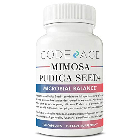 Codeage Mimosa Pudica Seed Capsules   Organic Mimosa Pudica Seeds, Intestinal Support, Supports Deto