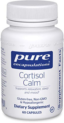 Pure Encapsulations   Cortisol Calm   Hypoallergenic Supplement To Maintain Healthy Cortisol Levels