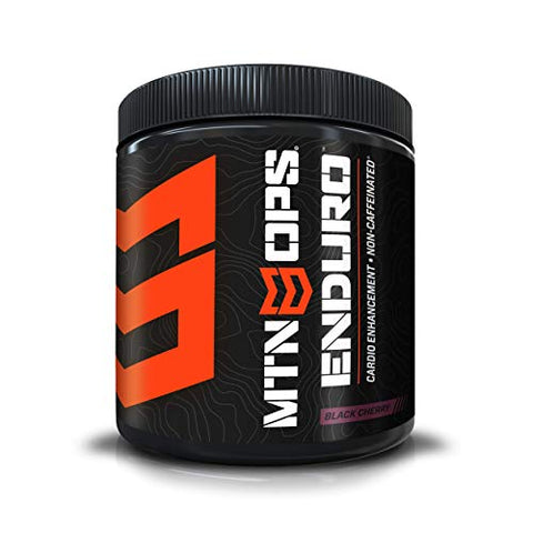 MTN OPS Enduro Cardio Enhancement Non-Caffeinated Energy Drink Mix 30-Serving Bottle, Black Cherry