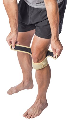 Cho Pat Dual Action Knee Strap â?? Provides Full Mobility & Pain Relief For Weakened Knees â?? Tan (