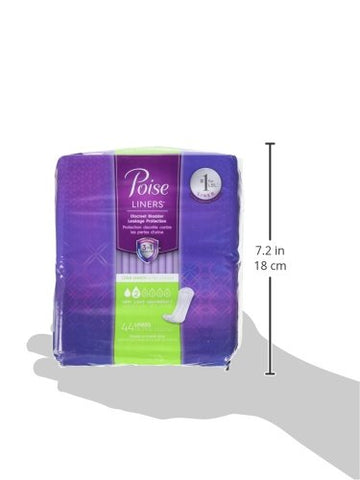 Poise Incontinence Panty Liners, Very Light Absorbency, Long, 176 Count