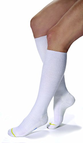 JOBST Athletic Knee 8-15 Closed Toe Sock, White, Medium