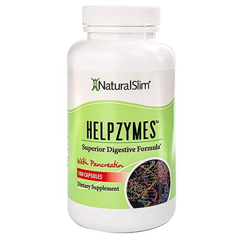 NaturalSlim Superior Digestive Enzymes with HLC Acid and Pancreatin Formulated by Award Winning Weight Loss and Metabolism Specialist- Powerful and Effective Formula for Ultra Digestion and Absorption