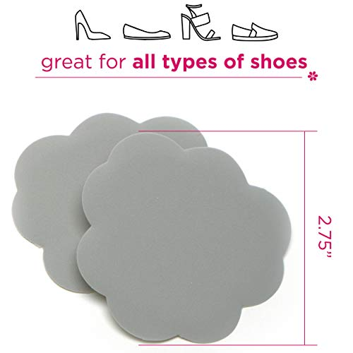 Foot Petals Tip Toes, 3-Pack - Cushioned Ball of Foot Inserts for High Heels and Other Uncomfortable Shoes