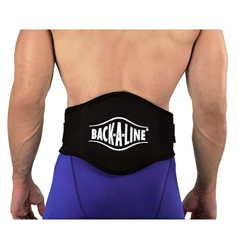 Back-A-Line BABKLG Back Support with Lumbar Pad, Large, Black