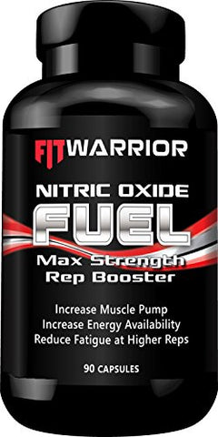 Nitric Oxide Rep Booster, 90 Capsules, L-Arginine, L-Arginine, Citrulline Malate - Powerful Preworkout NO Booster for Immediate & Visible Increase in Muscle Pump, Growth, Vascularity, and Endurance