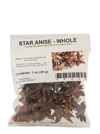 Star Anise - Whole - 1 oz Bag