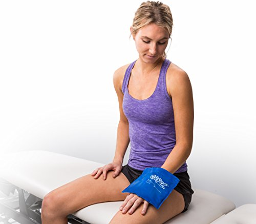 "Chattanooga ColPac Reusable Gel Ice Pack Cold Therapy for Wrist, Ankle, Knee, Arm, Elbow for Aches, Swelling, Bruises, Sprains, Inflammation (5.5"" x 7.5"") - Blue"