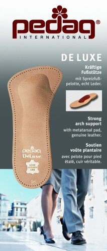 Pedag 123 De Luxe 3/4 Leather Orthotic with Metatarsal Pad, Longitudinal Arch Support, Tan, Women's 9