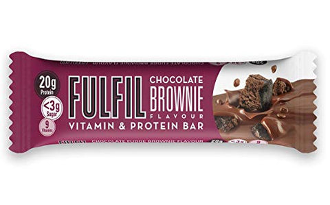 3 Pack - Fulfil Chocolate Brownie Bar 55g New!!!
