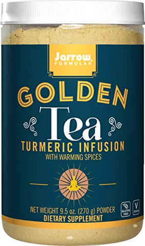 Jarrow Formulas Golden Tea, Tumeric Infusion with Warming Spices, 9.5 Ounce