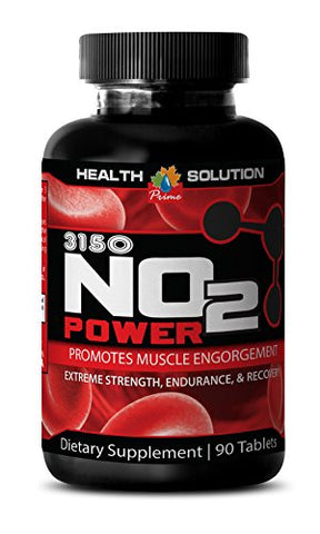 Energy Supplement Recovery - Premium Natural Nitric Oxide 3150MG - Nitric Oxide and Muscle Pump - 1 Bottle (90 Capsules)