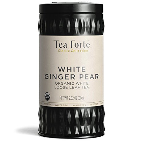 Tea Fortãƒâ© Organic White Tea White Ginger Pear, 2.82 Ounce Loose Leaf Tea Canister