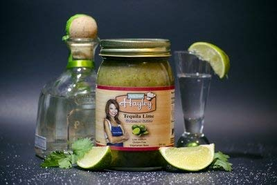 Tequila Lime Cooking Sauce by Help from Hayley Sauces-Margarita sauce, low sodium, low fat, vegan friendly, gluten free