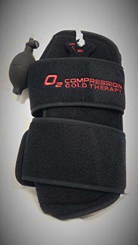 O2 Cold Therapy Knee Wrap with Ice Pack and Air Compression Wrap, Universal