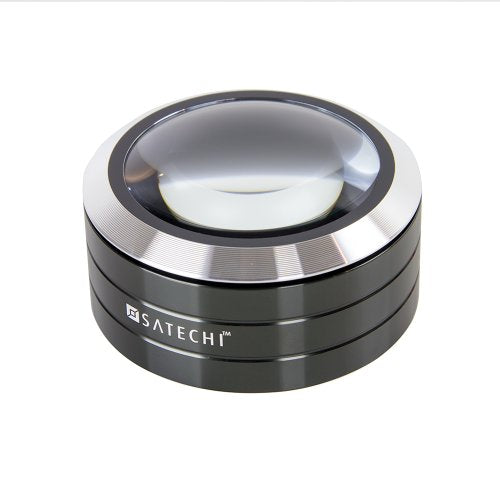 Satechi ReadMate LED Desktop Magnifier with up to 5X Magnification - Carrying Case Included (Black)