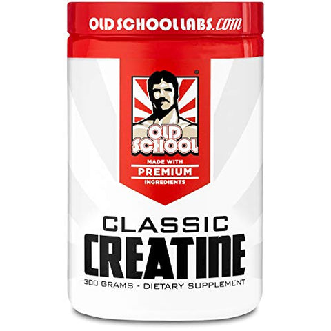 Old School Labs Classic Creatine - Purity-Tested Creatine Monohydrate for Muscle Size, Strength and Stamina - No Additives - Used by More Mr. Olympias and Physique Legends Than Any Other Brand - 300 g