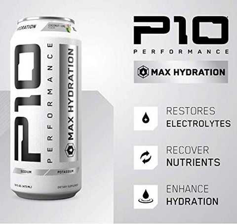 P10 Performance Max Hydration -12 Pack of 16 oz. cans