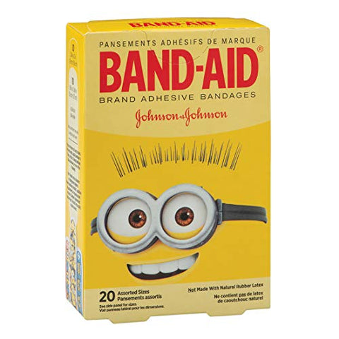 Minions Band-AID Bandages - First Aid Kid Supplies - 20 per Pack