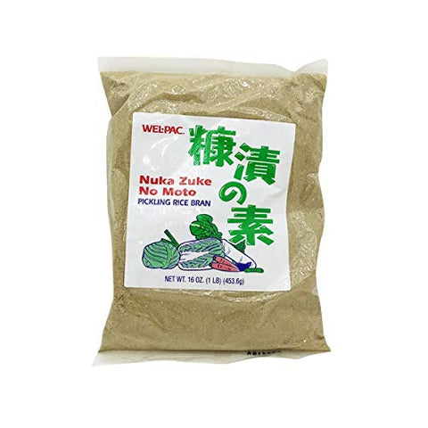 Wel Pac Nuka Zuke( Nukazuke ) No Moto, Rice Bran for Pickled 16oz