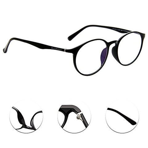 Amorays 3 Pairs Retro Round Circle Readers Vintage Style Mens Women Lightweight Reading Glasses AM502(+1.50)
