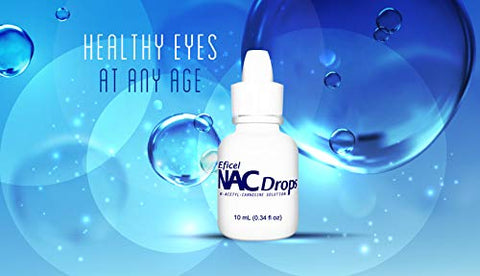NAC Drops N-Acetyl-Carnosine Antioxidant Anti-aging Lubricant Eye Drops 10mL Supports Eye Health