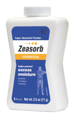 Zeasorb Prevention Super Absorbent Powder, Foot Care, 2.5-Ounce Bottle