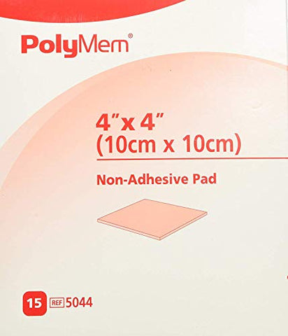 PolyMem Cloth Wound Dressings, Non-Adhesive, 4