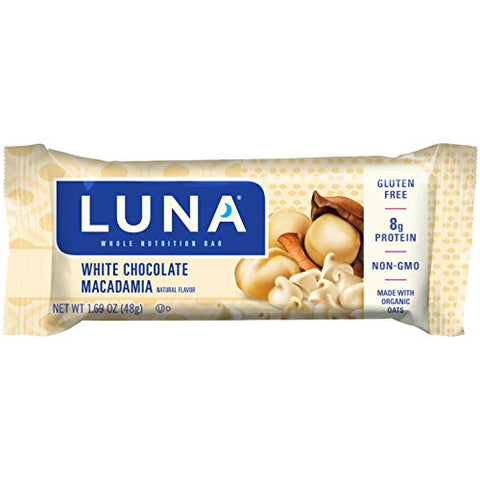 Luna BAR - Gluten Free Snack Bars - White Chocolate Macadamia Flavor - (1.69 Ounce Snack Bar, 6 Count)