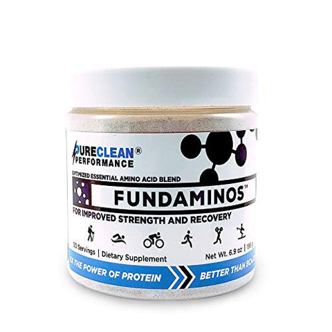 FUNDAMINOS-Vegan EAA/BCAAs, Botanically Boosted, Best-Tasting, Great Value, Nothing Artificial, Physician-Formulated, Clinically-Proven Since 2008 (30 Servings) - PureClean Performance