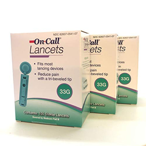On Call Twist Lancets 33 Gauge 300 Count