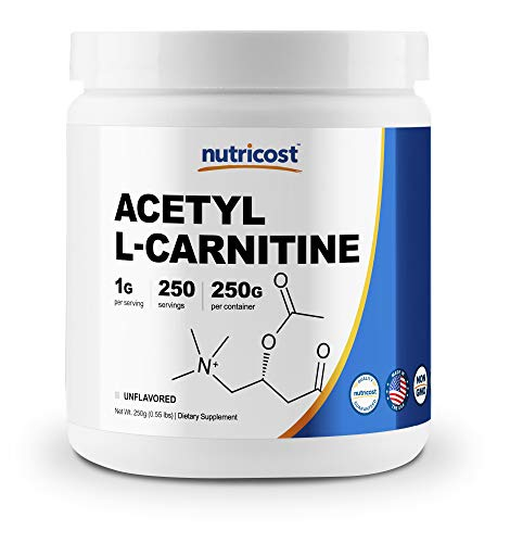 Nutricost Acetyl L-Carnitine (ALCAR) 250 Grams- 1G Per Serving - 250 Servings - Highest Quality Pure Acetyl L-Carnitine Powder