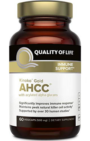 Premium Kinoko Gold Ahcc Supplementâ??500mg Of Ahcc Per Capsuleâ??Supports Immune Health, Liver Func
