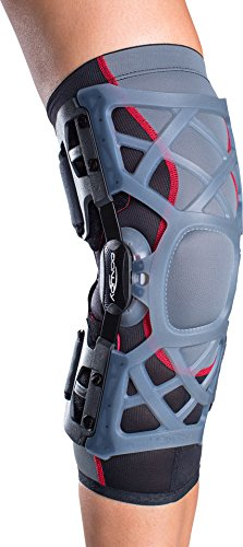 DonJoy OA (Osteoarthritis) Reaction Web Knee Support Brace: Medial Left/Lateral Right, Medium