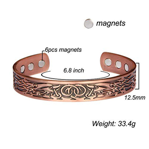 Copper Bracelets for Men Arthritis Bangle