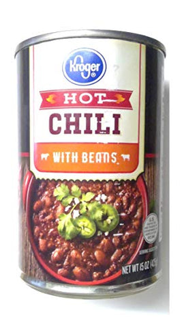 ???? Kroger Hot Chili with Beans ???? One 15 oz (425g) Can ???? 1 Pack ????????