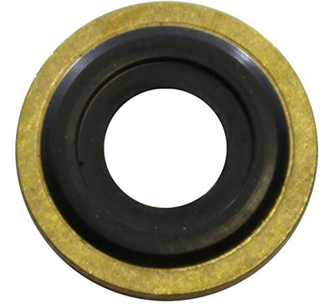 Oxygen Cylinder Wrench w/Bungee & 2 Brass Yoke Washer Seals for O-Ring Replacement on O2 Regulators