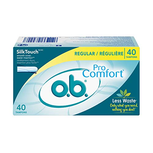 O.B. Pro Comfort  Applicator Free Digital  Tampons, Regular Absorbancy, 40 Count (Pack Of 1)
