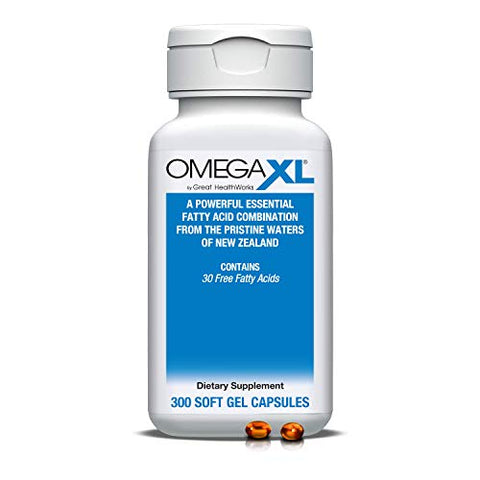 Omega XL 300 Capsules - Green Lipped Mussel New Zealand, Omega 3 Natural Joint Pain Relief & Inflammation Supplement