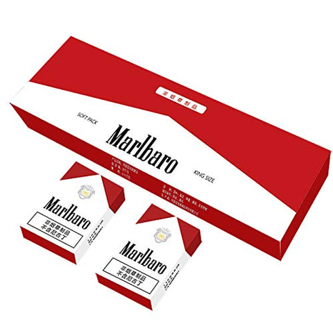 HUWOYMX Green Tea Herbal Cigarettes, Chinese Herbal Cigarettes Smoke-Free and Nicotine-Free, Cigarette Substitutes That Can Clean The Lungs (5 Packs, Red Marlbaro)