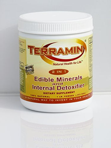 Ion Charged Terramin Mega-Mineral Supplement & Internal Detoxifier/Cleanser, 1-Pound Powder Jar