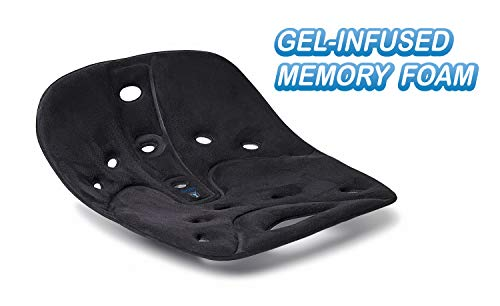 Back Joy Sit Smart Fabric Pro Gel Posture Cushion | Lumbar Support For Lower Back Pain | Improve Postu