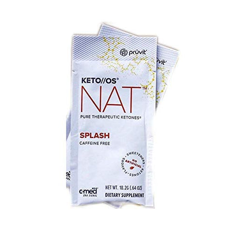 Pruvit Keto//OS NAT Caffeine Free, BHB Salts Ketogenic Supplement - Beta Hydroxybutyrates Exogenous Ketones for Fat Loss, Workout Energy Boost Through Fast Ketosis. 20 Sachets (Splash)