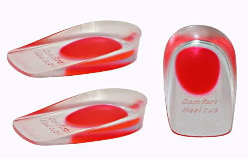 2 Pack   Kid Sole Shock Absorbing Lightweight Gel Heel Cups For Kid's With Sensitive Heels, Heel Spur